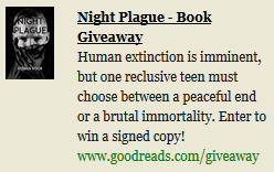 Night Plague Giveaway on Goodreads